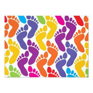 Barefootin' - Beach Wedding - SRF 5.5x7.5 Paper Invitation Card