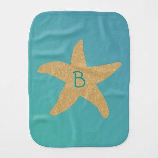 Barefootin' Beach Wedding Starfish Baby Burp Cloth