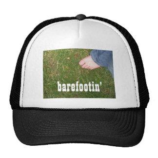 """barefootin'"" TruckerHat - ajustable Gorras"