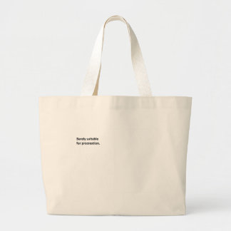 Barely Suitable 2 Large Tote Bag