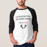 Barely Survived Delivery, GIRL, Baseball Jersey T Shirt