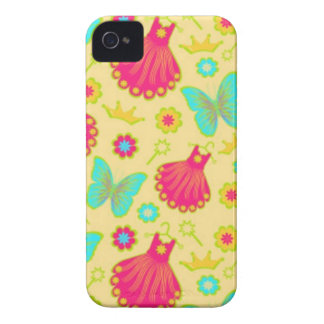 Barely There Girls Pink Dress Butterfly Iphone 4/4 iPhone 4 Case-Mate Cases