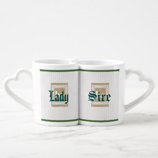 barely there pink stripes, vintage early,BE Lovers Mug Set
