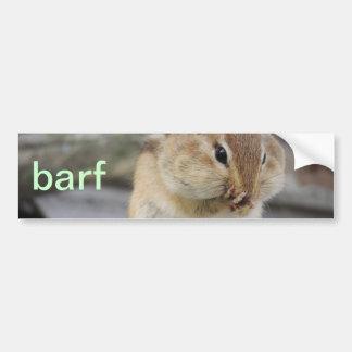 barf bumper sticker