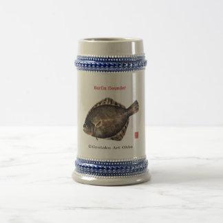 Barfin Flounder pine matte king turbot GYOTAKU Beer Stein