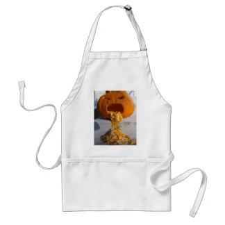 Barfing Pumpkin Adult Apron
