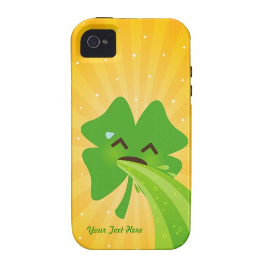 Barfing Shamrock Custom iPhone 4 Case