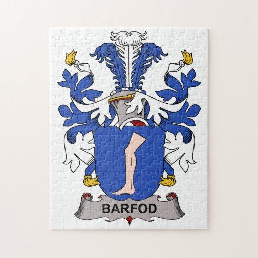 Barfod Family Crest Jigsaw Puzzles
