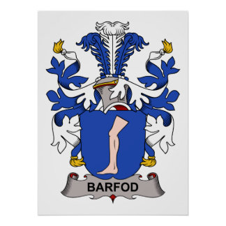 Barfod Family Crest Print