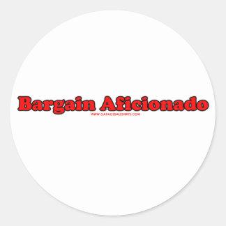 Bargain Aficionado Classic Round Sticker