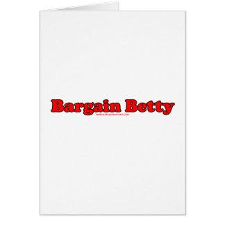 Bargain Betty Card