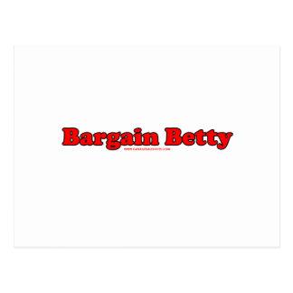Bargain Betty Postcard