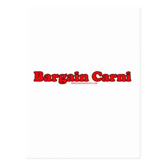 Bargain Carni Postcard