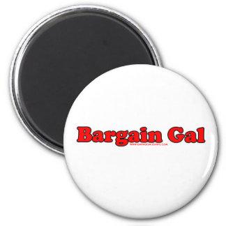 Bargain Gal 2 Inch Round Magnet