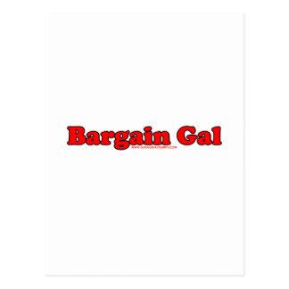 Bargain Gal Postcard