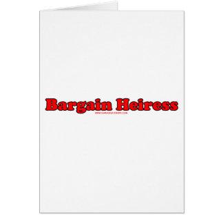 Bargain Heiress Card