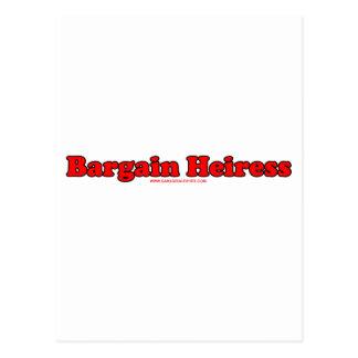 Bargain Heiress Postcard