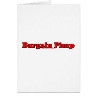 Bargain Pimp Card