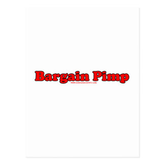 Bargain Pimp Postcard
