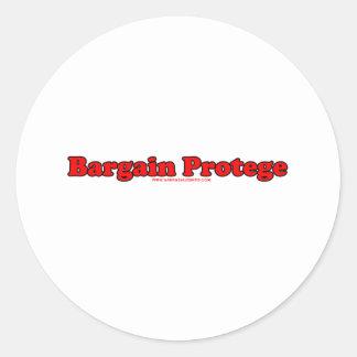 Bargain Protege Classic Round Sticker