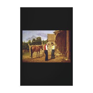 Bargaining for a Horse', William_Art of America Canvas Print
