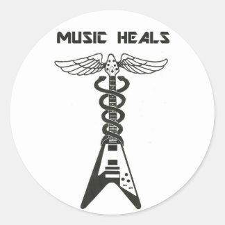BargasArtworks Music Heals Flying V Logo Sticker