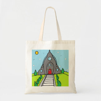 "BargasArtworks ""Rocket House""  bag"