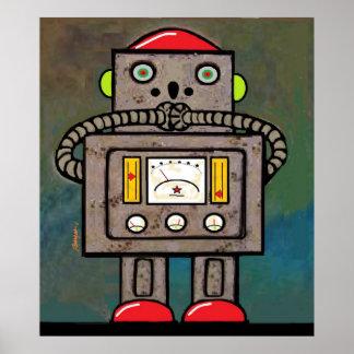 BargasArtworks Suprised Robot Print