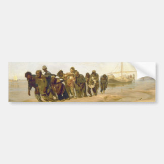 Barge Haulers on the Volga by Ilya Y. Repin Bumper Sticker