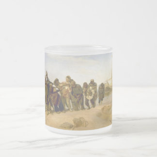 Barge Haulers on the Volga by Ilya Y. Repin Frosted Glass Coffee Mug