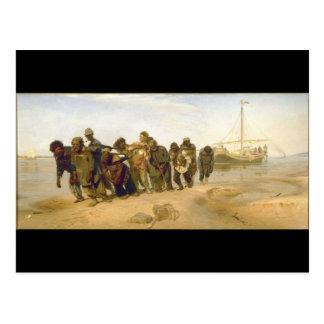 Barge Haulers on the Volga by Ilya Y. Repin Post Cards