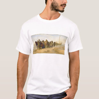 Barge Haulers on the Volga by Ilya Y. Repin T-Shirt
