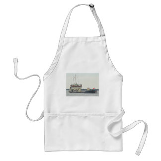 Barge in Barnegat Inlet New Jersey Series Adult Apron