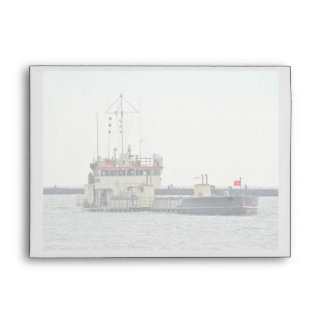 Barge in Barnegat Inlet New Jersey Series Envelope