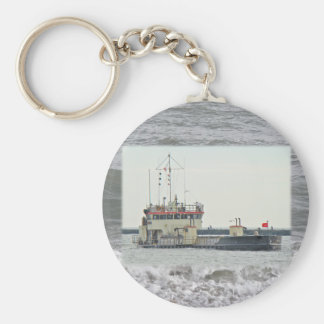 Barge in Barnegat Inlet New Jersey Series Keychain