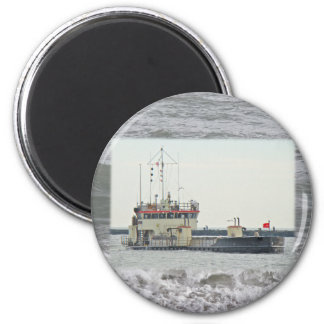 Barge in Barnegat Inlet New Jersey Series 2 Inch Round Magnet