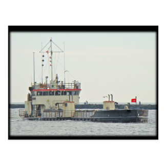 Barge in Barnegat Inlet New Jersey Series Postcard