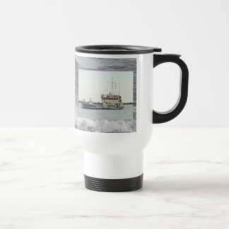 Barge in Barnegat Inlet New Jersey Series Travel Mug