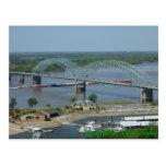 Barge on Mississippi River postcard