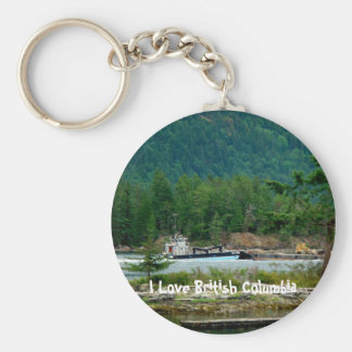 Barge on the Inland Passage Keychain