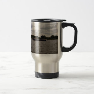 Barge On The Thames Travel Mug