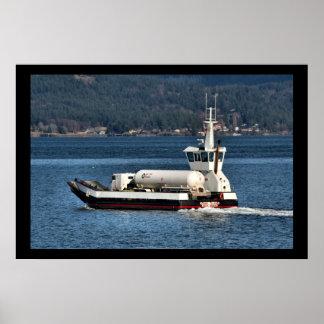 Barge Transporting Propane Poster