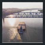 """Barge under bridge faux canvas print<br><div class=""""desc"""">Drone shot (mavic air ) of barge under bridge</div>"""