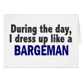 Bargeman During The Day Greeting Card