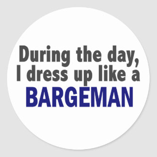 Bargeman During The Day Classic Round Sticker