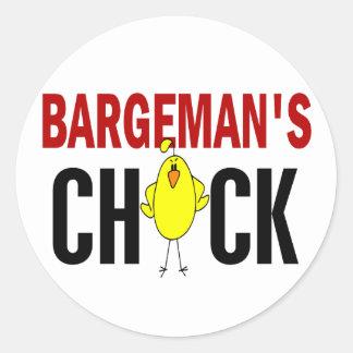 Bargeman's Chick Round Sticker