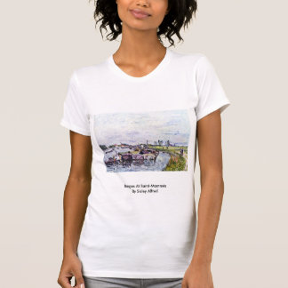 Barges At Saint-Mammès By Sisley Alfred T Shirts