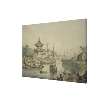 Barges of Lord Macartney's Embassy to China Canvas Print