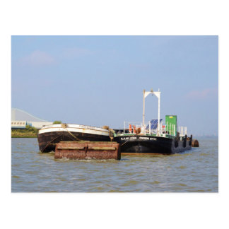 Barges On The River Thames Postcard