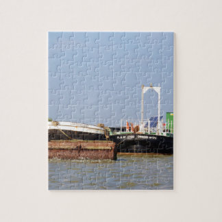 Barges On The River Thames Jigsaw Puzzles